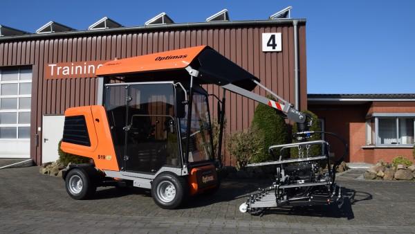 Optimas Pflasterverlegemaschine S19E PaveJet - Seitenansicht